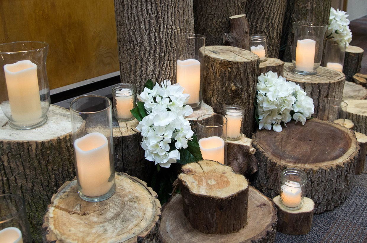 wedding decorations at Kortright Centre