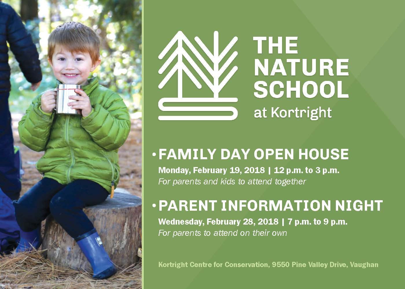 The Nature School at Kortright open houses