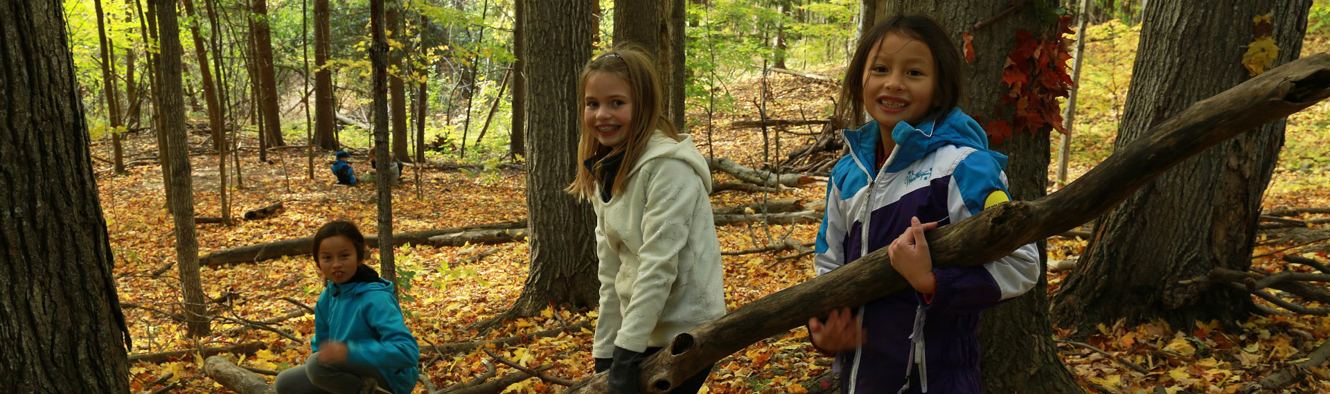 elementary school students take part in educational program at Kortright Centre