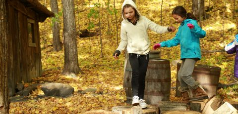 students take part in Forest School program at Kortright Centre