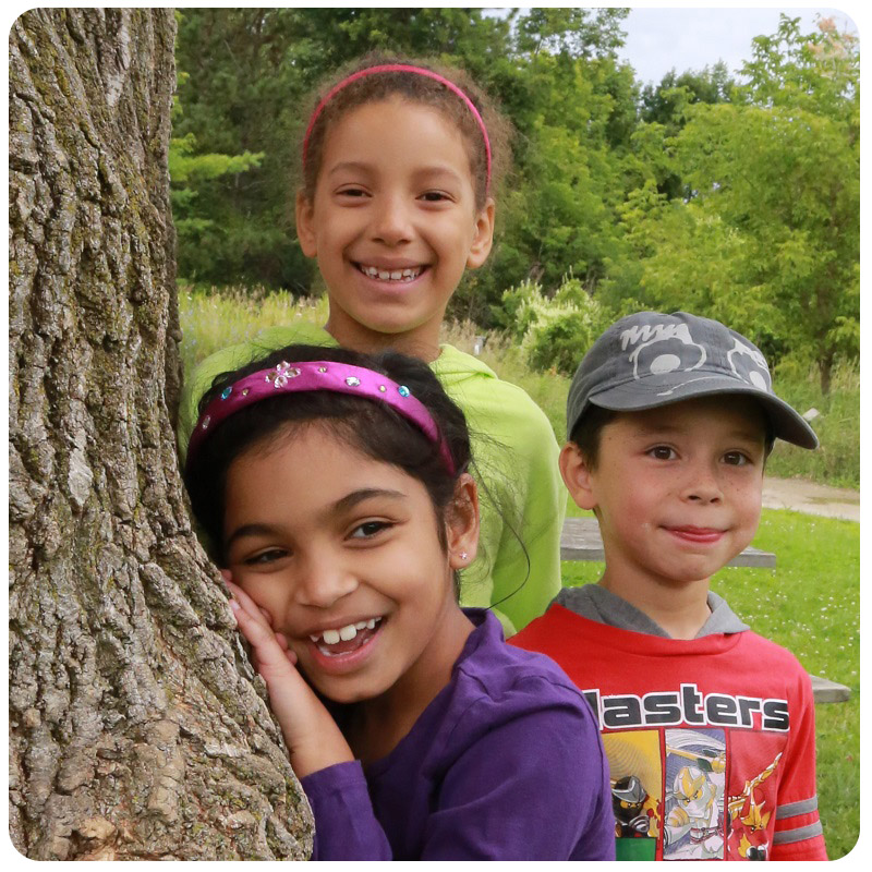 youngsters at Kortright Centre summer nature camp