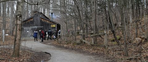 maple syrup sugar shack at Kortright Centre