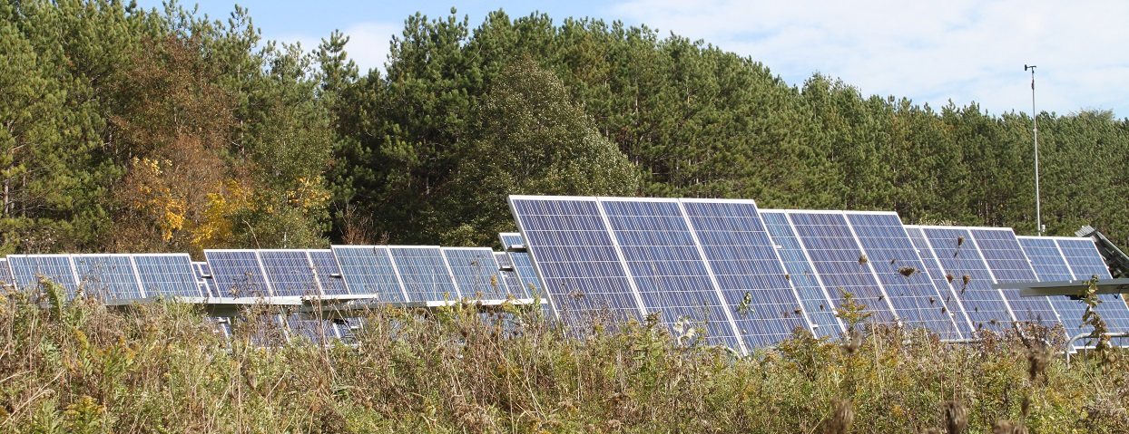 solar field at Kortright Centre for Conservation