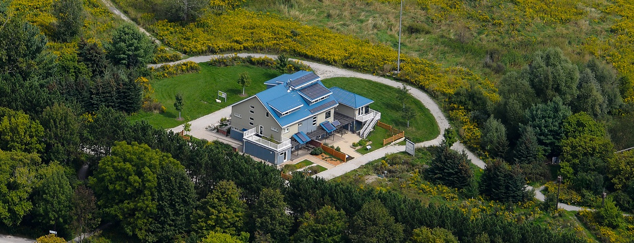 aerial view of Archetype Sustainable House