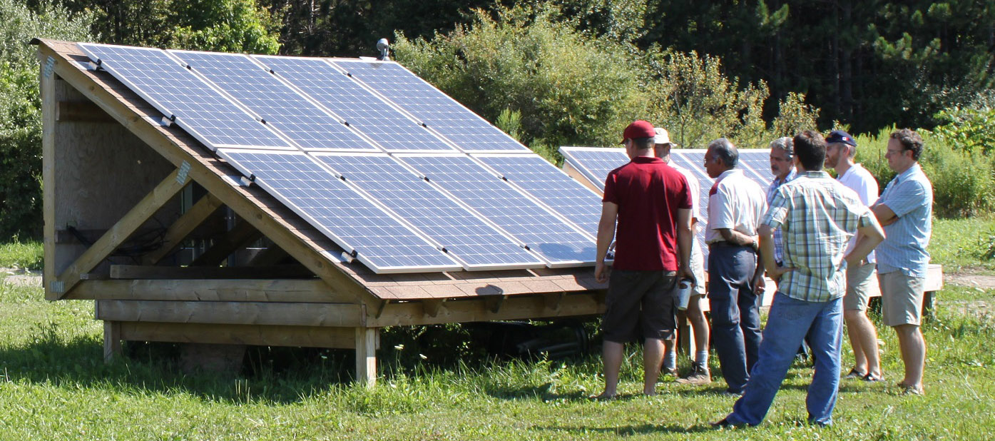 solar energy workshop at the Kortright Centre