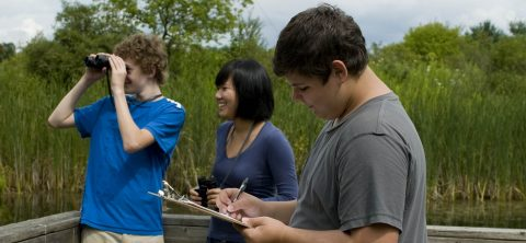 students explore natural habitat at Kortright Centre