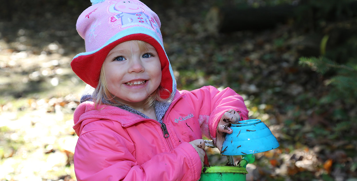 young girl at Kortright Nature School