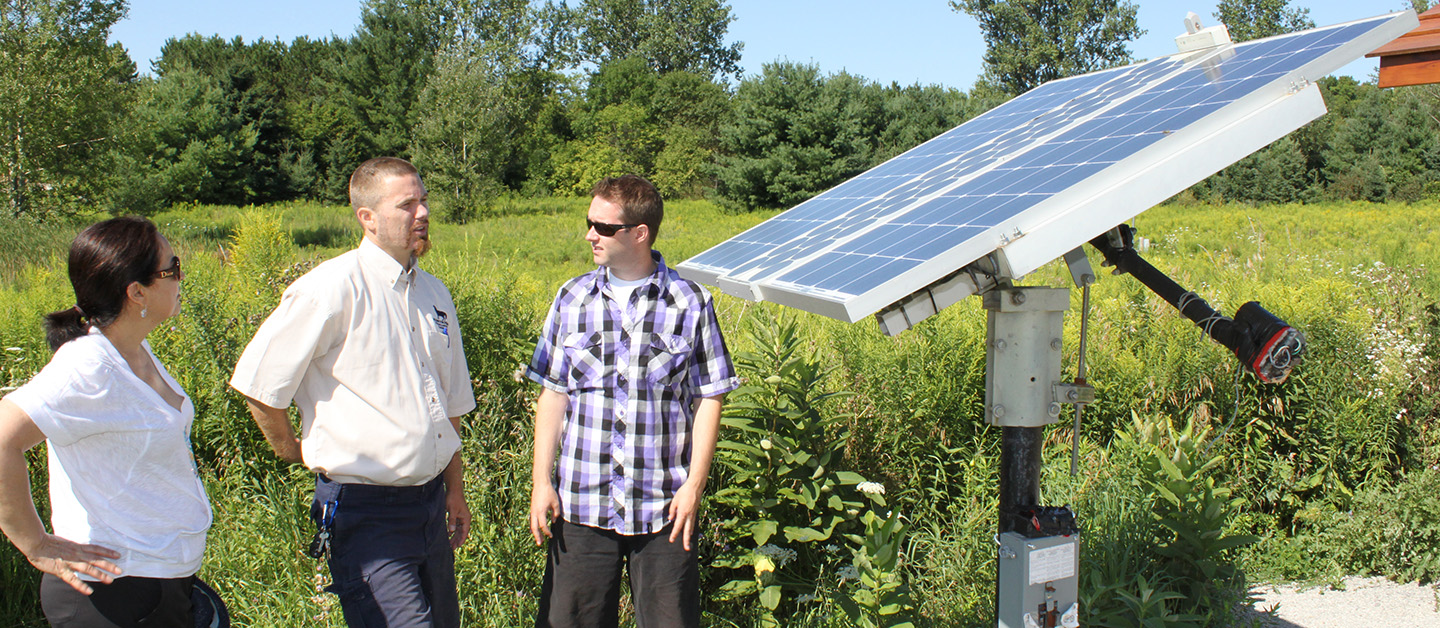 sustainability demonstration at Kortright Centre