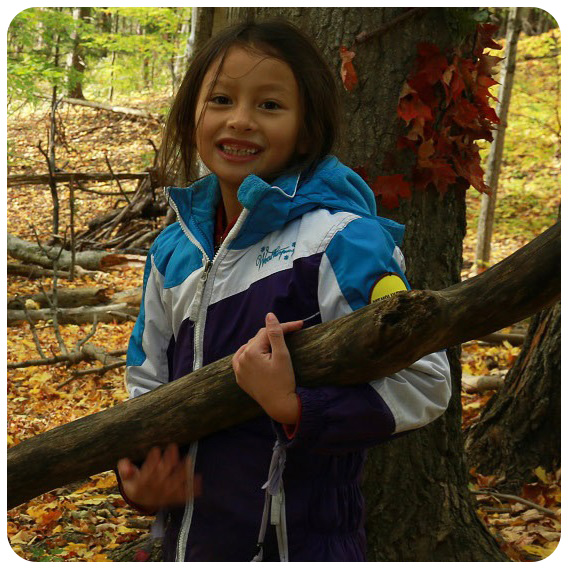 girl takes part in elementary school program at Kortright Centre