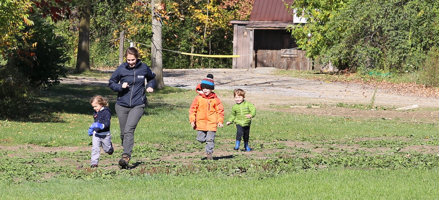 children take part in Little Saplings spring program at Kortright Centre