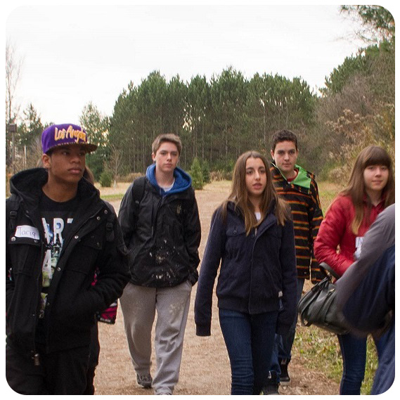 high school students visit Kortright Centre