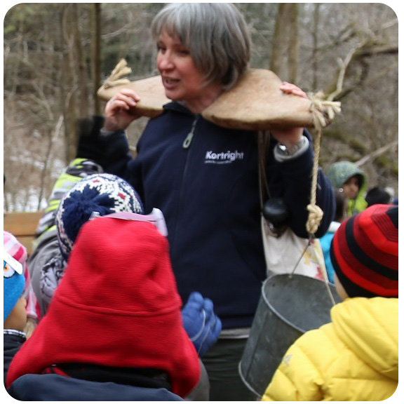 Kortright volunteer at Maple Syrup festival
