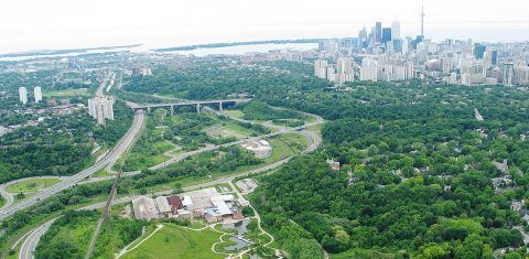 aerial view of Don Valley