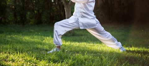 man practicing Tai Chi