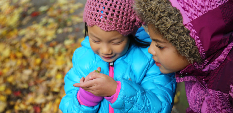 children take part in Little Saplings fall program at Kortright Centre