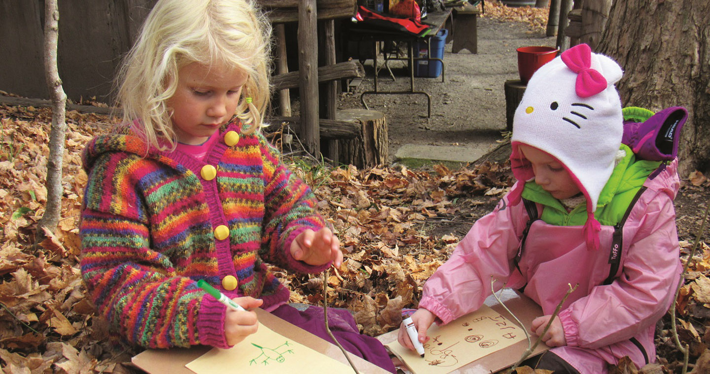 Preschool children participate in Kortright Nature School program