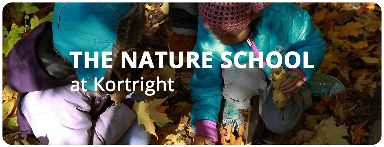 students attend Nature School at Kortright Centre