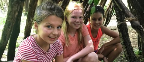 youngsters at Claremont Nature Centre overnight summer camp