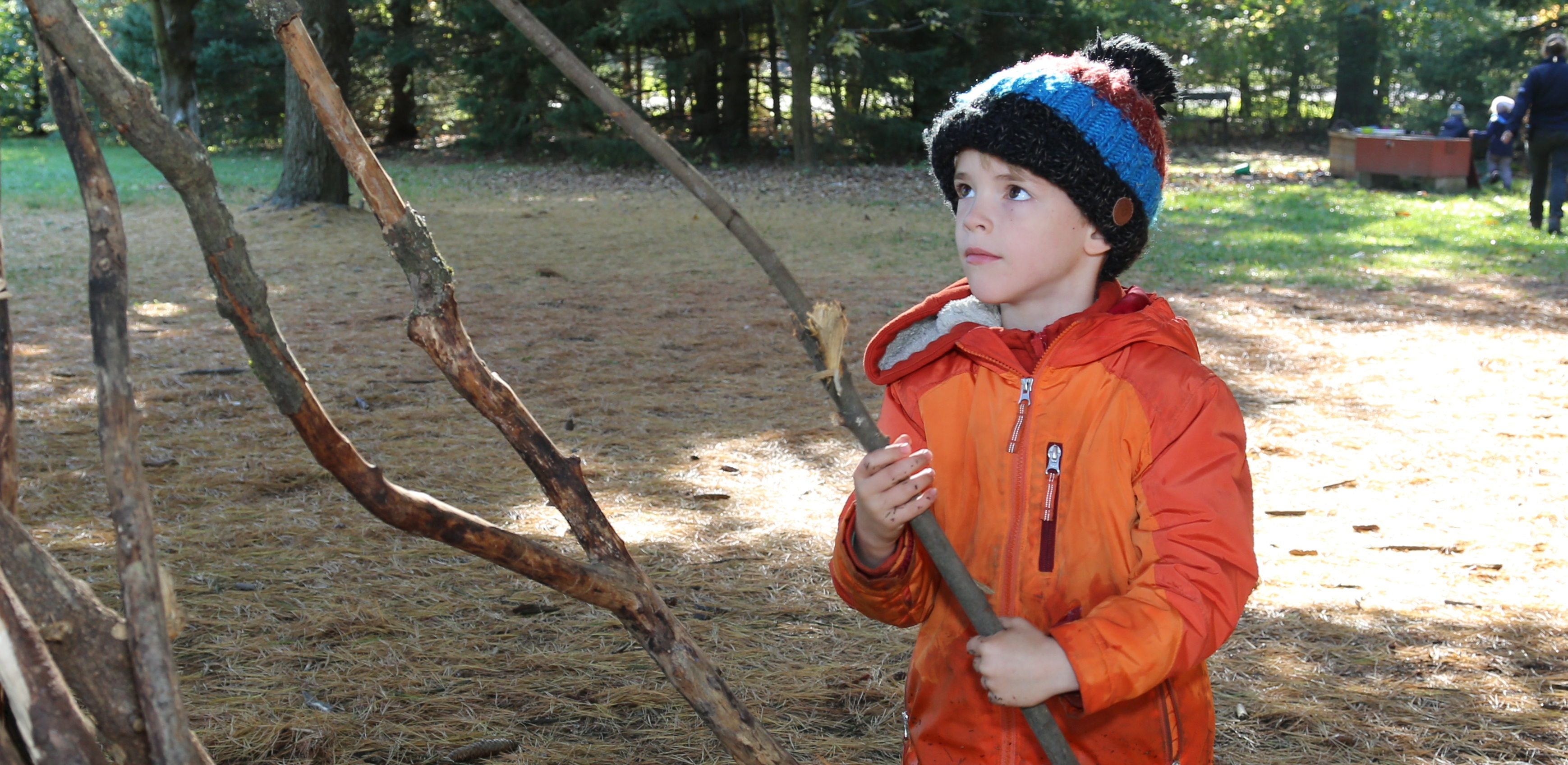 young boy takes part in Little Saplings program at Kortright Centre for Conservation
