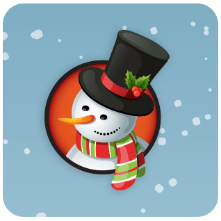 illustration of snowman in top hat