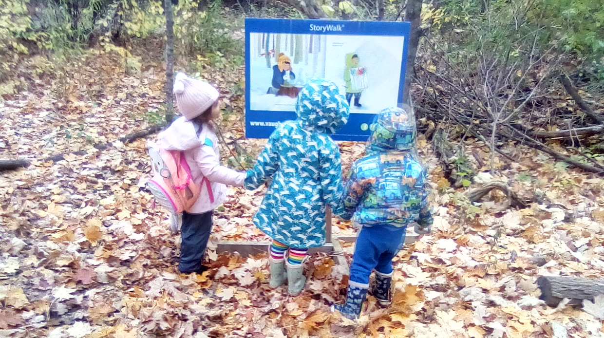 Nature School students take story walk at Kortright Centre