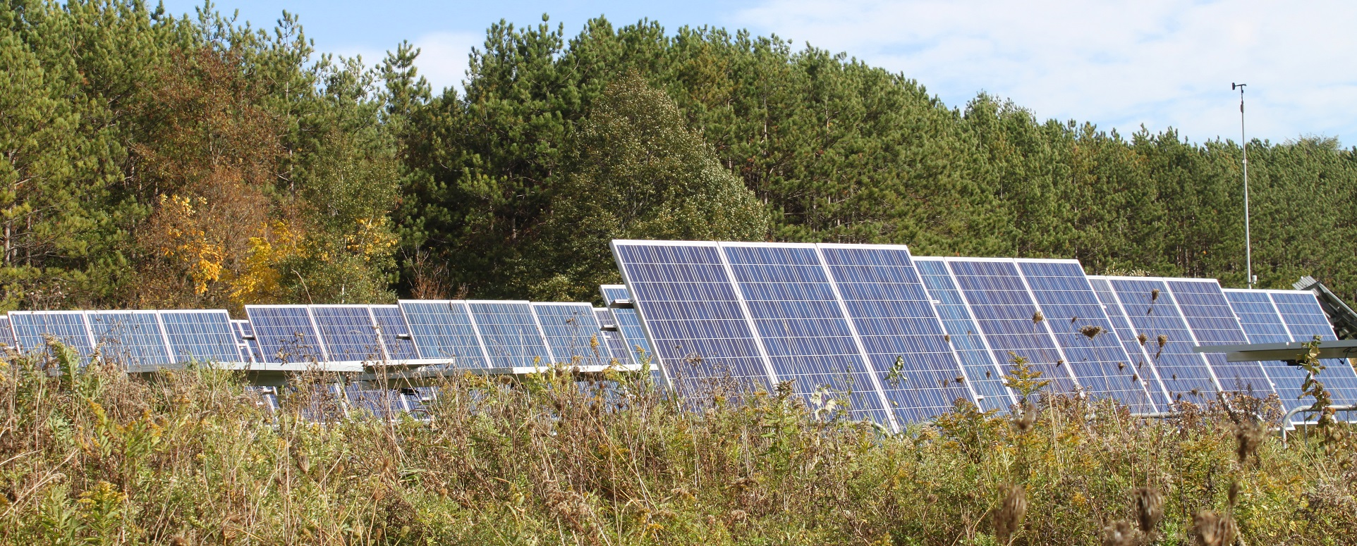 solar panels at Kortright Centre