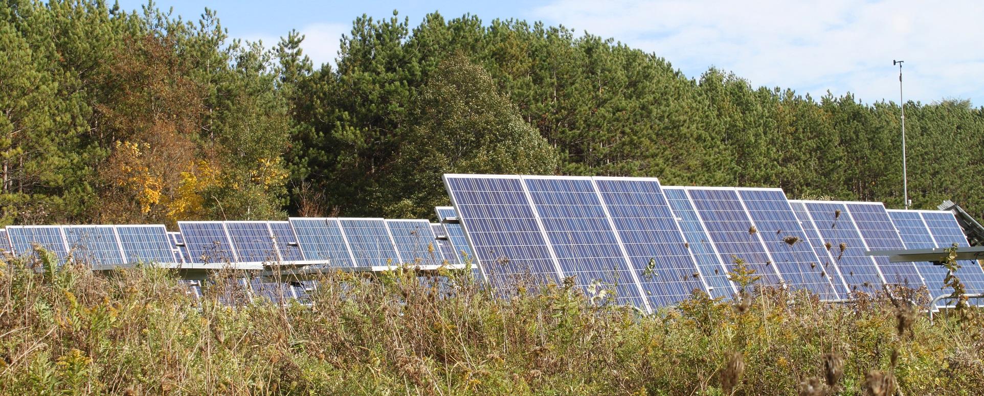 solar panels at Kortright Centre