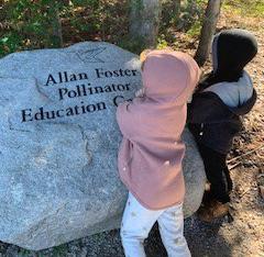 preschoolers explore the Allan Foster Memorial Garden at Kortright Centre