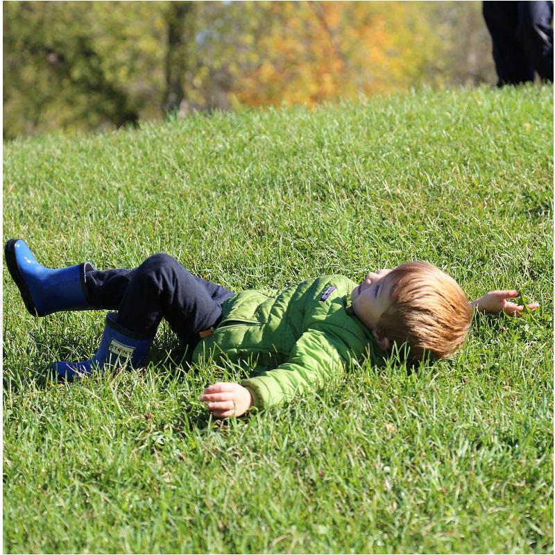 child enjoys Fresh Air Fridays camp at Kortright Centre in springtime
